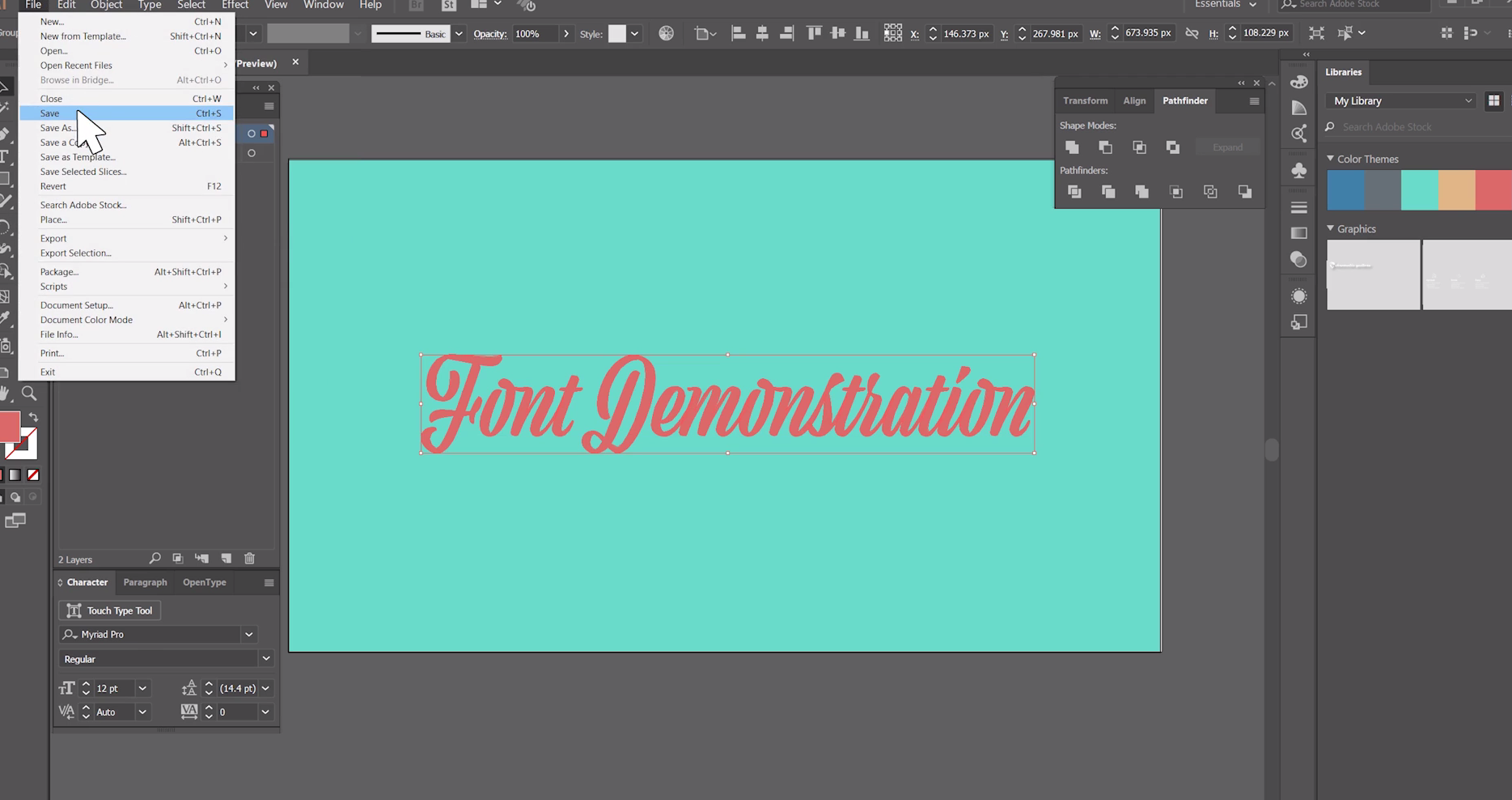 How to Outline Fonts in Adobe Ilustrator 2017 StickerGiant