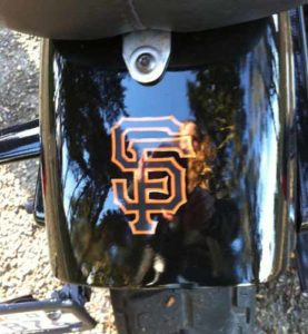 Detailed View of Custom San Francisco Giants Decals from StickerGiant
