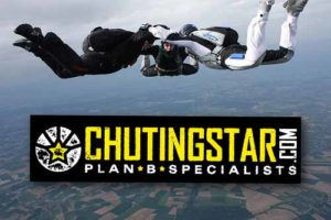 Custom printed stickers for Chutingstar Skydiving Education Company in Georgia, printed by StickerGiant