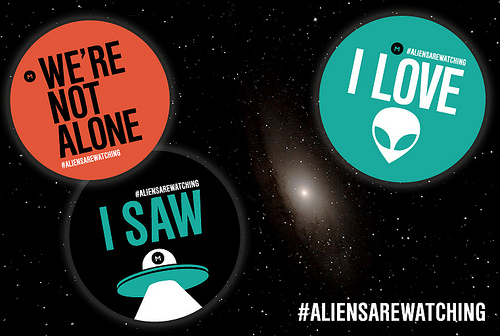 Aliens Are Watching Stickers