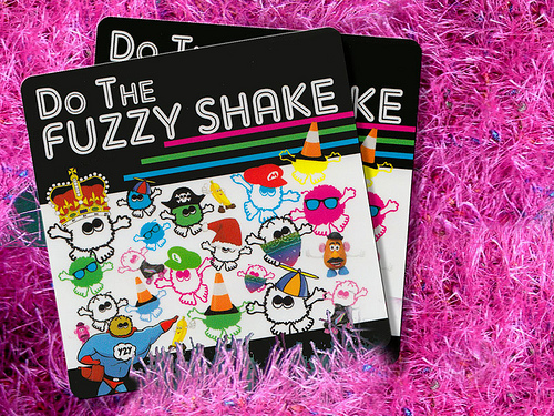 Fuzzy Shake Sticker