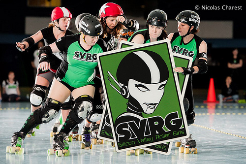 Silicon Valley Roller Girls sticker
