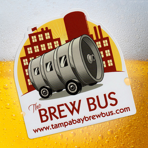 Awesome Tampa Bay Brew Bus Sticker