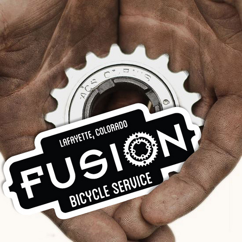 Fusion Bicycle Service Stickers
