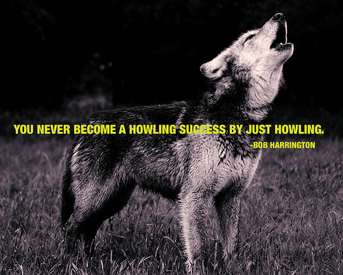 You will never become a howling success ...
