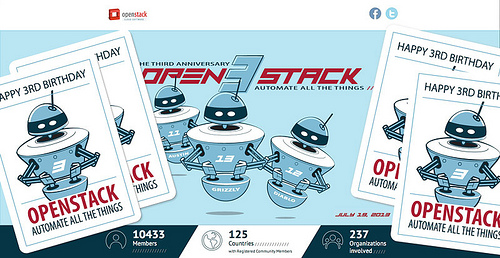 Open Stack 3rd Birthday Sticker