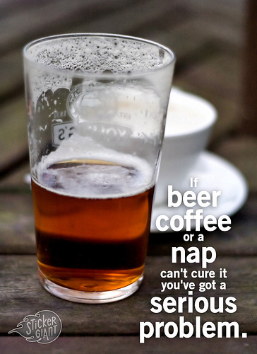 If beer, coffee, or a nap can't solve it ...