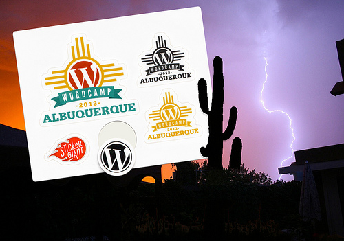 WordCamp Custom Sticker Sheet - Albuquerque