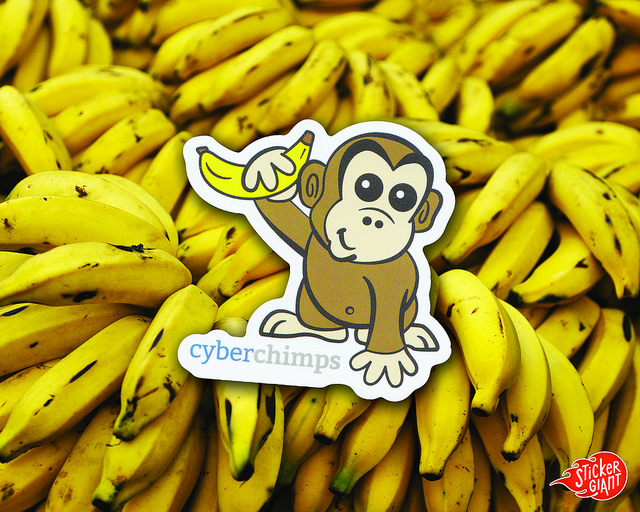 Cyber Chimps StickerGiant