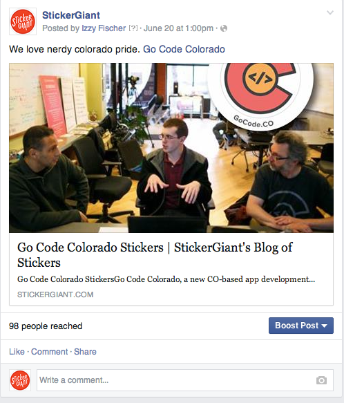 StickerGiant Facebook Customer Tag