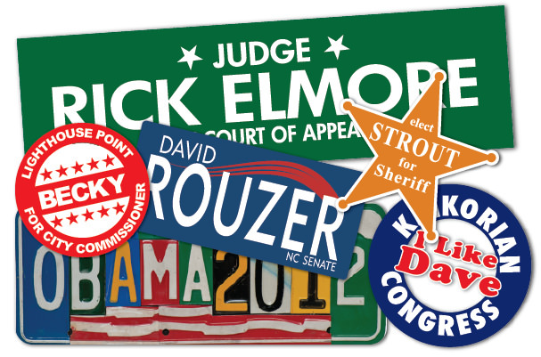 StickerGiant political stickers for campaign use