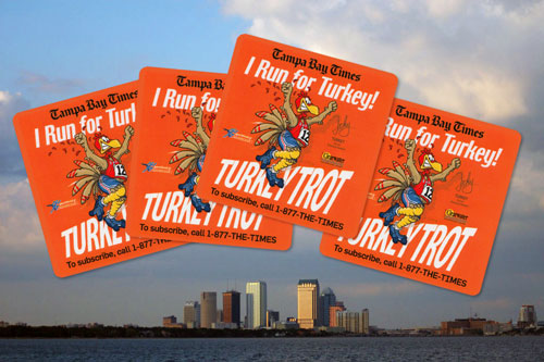 StickerGiant created these great Turkey Trot stickers