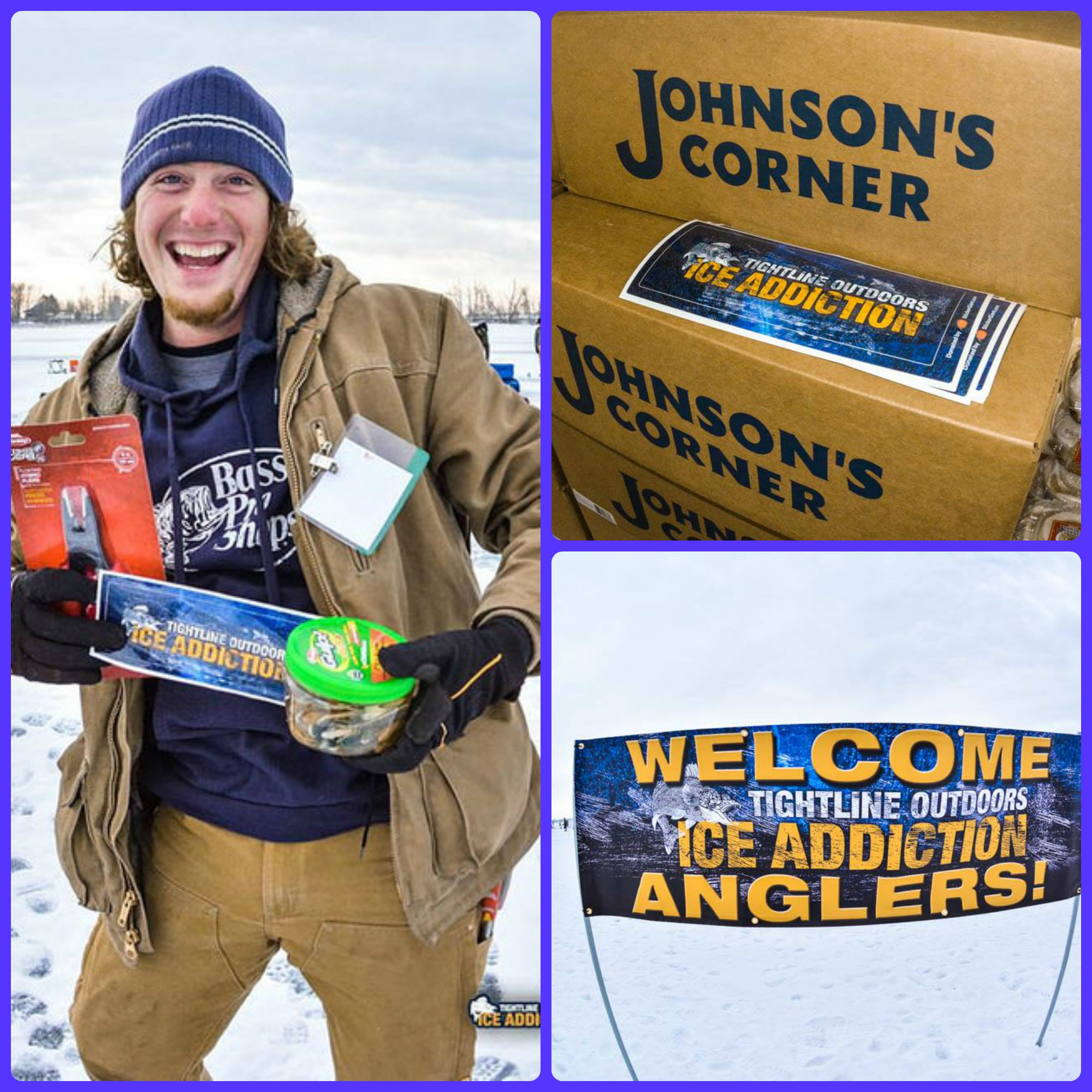 StickerGiant helped sponsor the Tightline Outdoors Ice Addiction event