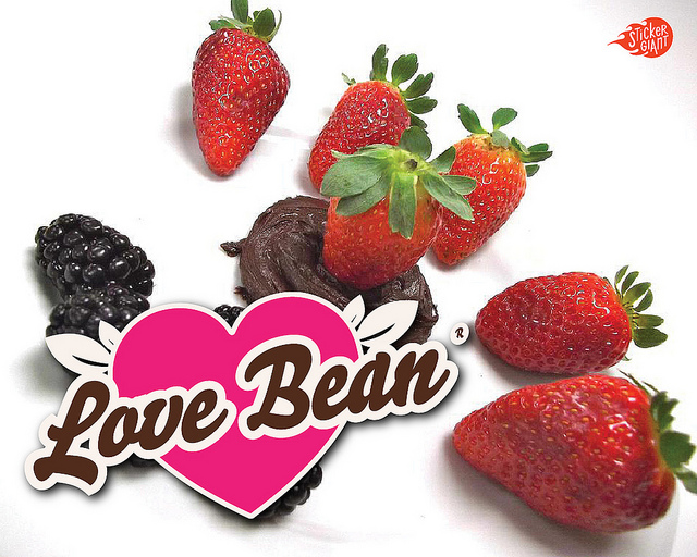 Lovebean-Custom-Shaped-Stickers-Printed-by-StickerGiant