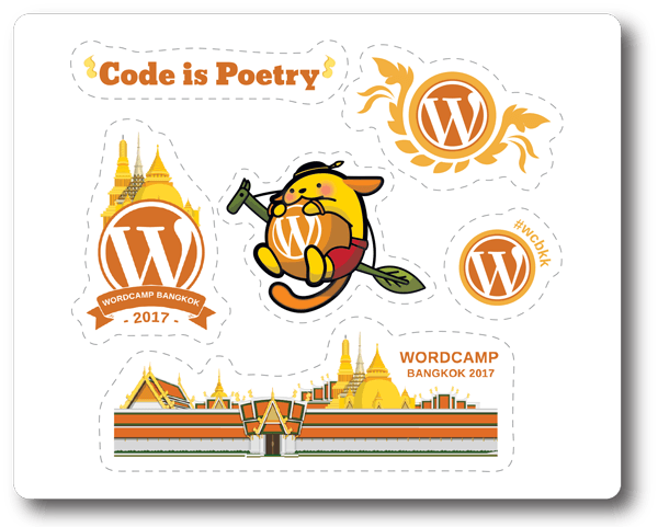 WordCamp-Bangkok-2017-Sponsored-Sticker-Sheet-facebook-blog-hi-rez