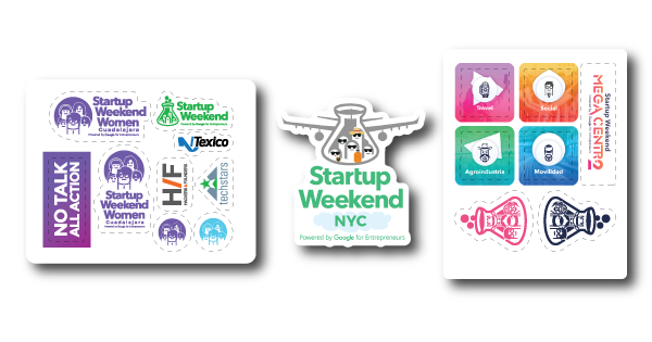 Startup-Weekend-Women-Guadalajara-Zacatecas-New-York-Travel-2017-sponsored-stickers-sheets-die-cuts