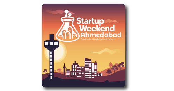 Startup Weekend Ahmedabad Sponsoored Die Cut Stickers 2017 blog