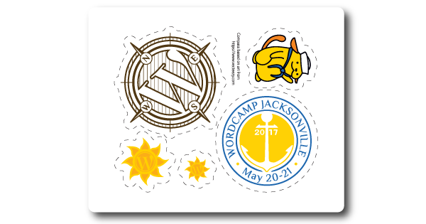 WordCamp-Jacksonville-Sticker-Sheet-2017-Wapuu