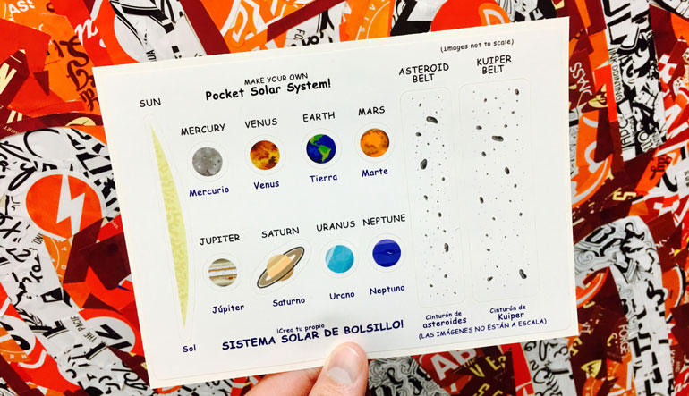 Look to the skies and put the solar system in your pocket at the edelman planetarium with custom sticker sheets
