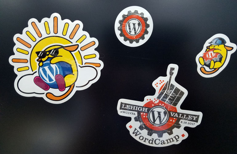 WordCamp-Brighton-Lehigh-Valley-sponsored-stickers-2017