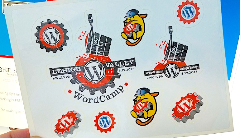 WordCamp-Lehigh-Valley-sponsored-stickers-2017