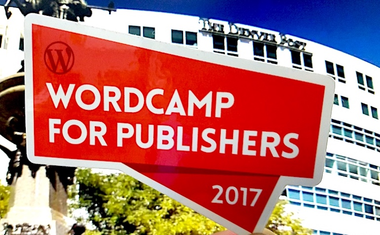 WordCamp for Publishers- Denver 2017 Sponsored Die Cut Stickers