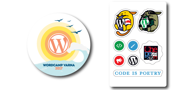 WordCamp-Varna-San-Jose-2017-stickers