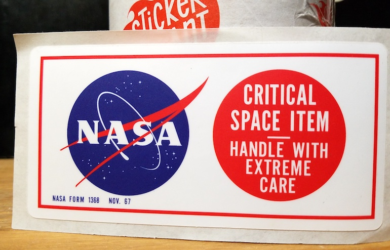 Even NASA Critical Space Items Need Stickers | Customer