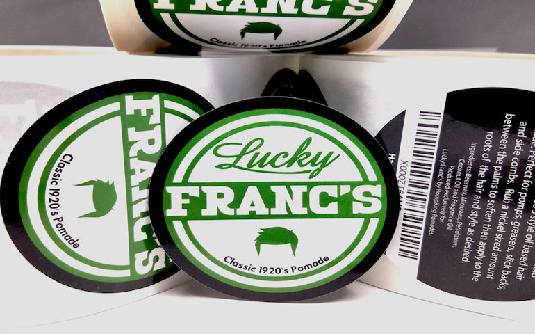 Glossy-Labels-for-Lucky-Francs-from-StickerGiant-2018