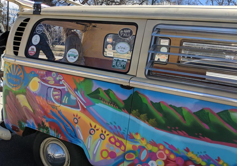 The-Be-Hippy-Van-with-Stickers-printed-by-StickerGiant