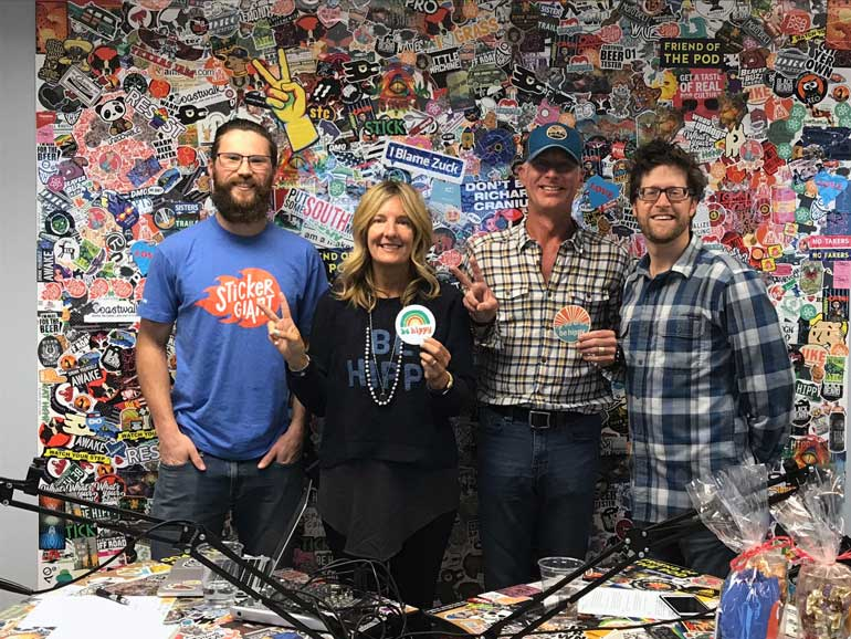 StickerGiant-Sticker-Stories-Podcast-Be-Hippy-with-the-Hosts-and-Guests