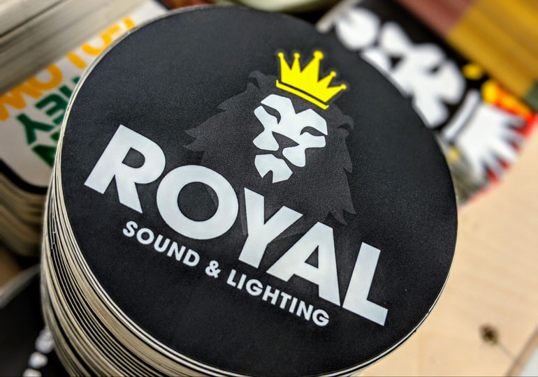 StickerGiant-Royal-Sound-and-Lighting-2018-matte-die-cut-square-lion-color-blog