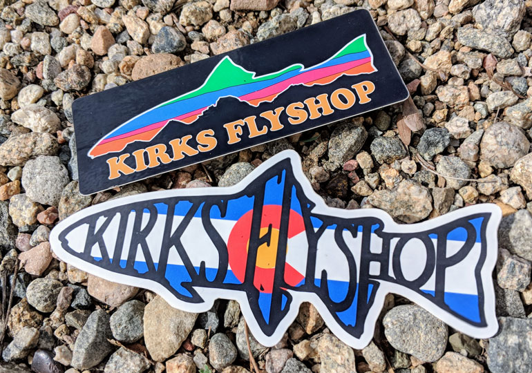 Stickergiant kirks fly shop 2018 custom die cut