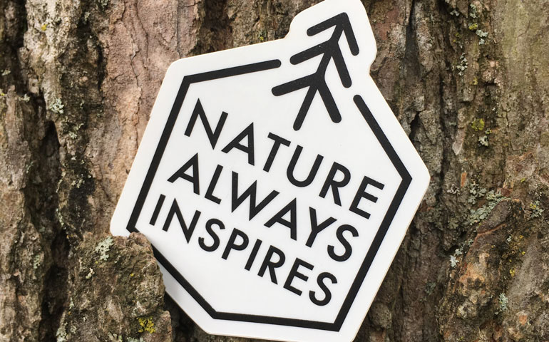 StickerGiant-Nature-Always-Inspires-Custom-Shape-logo-sticker-2018-blog