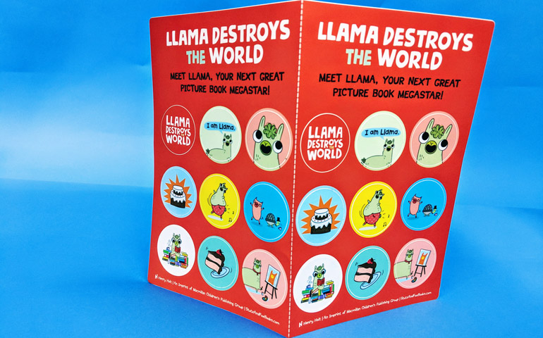 Custom-Sticker-Sheets-for-Llama-Destroys-the-World-that-were-printed-by-StickerGiant