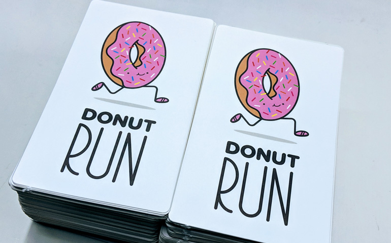 StickerGiant-Custom-Printed-Stickers-for-the-Tortoise-and-Hare-Running-Store-with-Donut-Run-Design