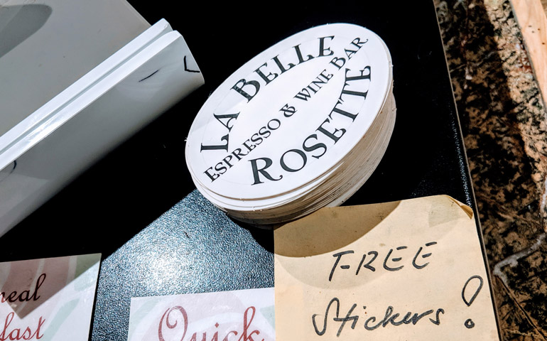 Custom-Oval-Shaped-Sticker-Printed-by-StickerGiant-for-La-Belle-Rosette