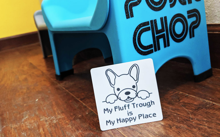 Custom-Sticker-that-Says-My-Fluff-Trough-is-my-Happy-Place-printed-by-StickerGiant