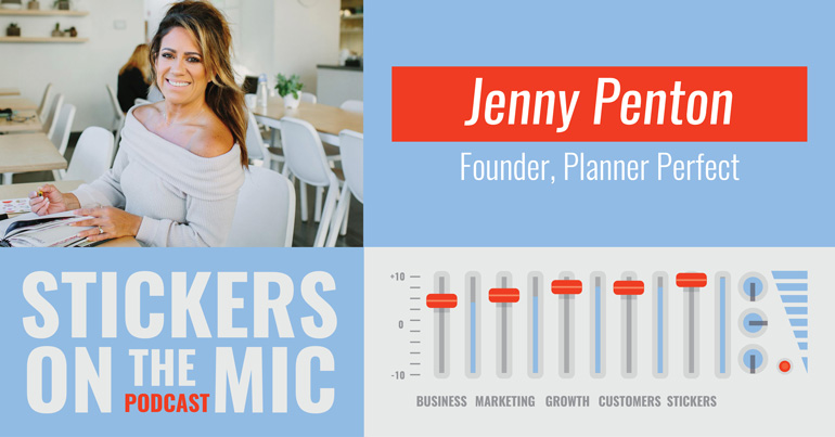 Stickers-On-the-Mic-Podcast-from-StickerGiant-with-Jenny-Penton-from-Planner-Perfect-hero-image-for-blog