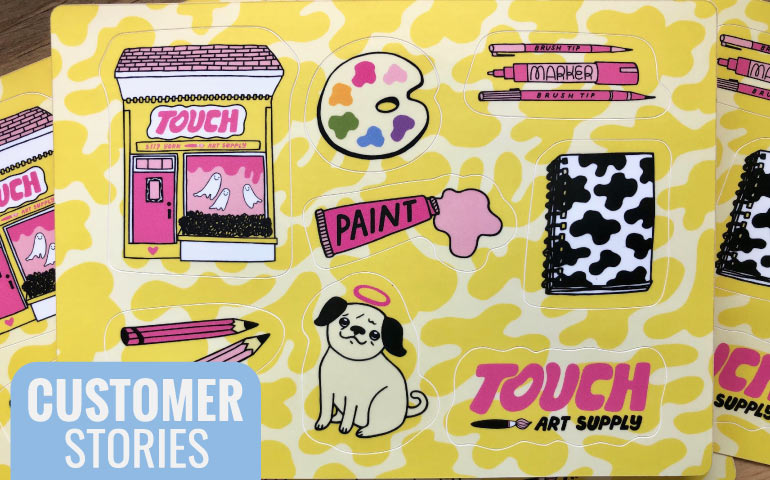 Touch-Art-Supply-LA-California-blog-by-StickerGiant-about-their-custom-sticker-sheets
