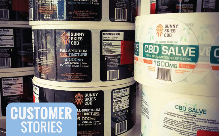 StickerGiant-Sunny-Skies-CBD-rolled-labels-blog