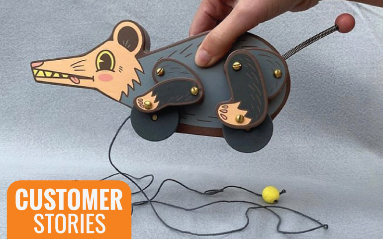 Okay-Have-Fun-Mouse-toy-picture-for-Customer-Story-on-StickerGiant-blog