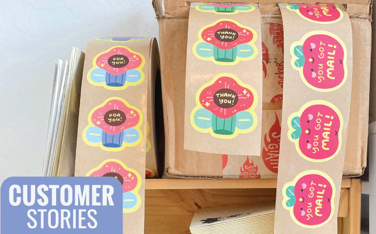Tiffany-Tan-Apple-Cheeks-Customer-Stories-Matte-Recycled-Paper-Labels