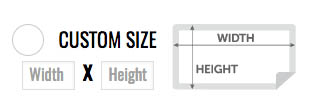 Choose the custom size you need with the custom option field when choosing your sticker size.