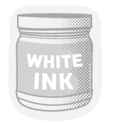 Clear Stickers White Ink Printing