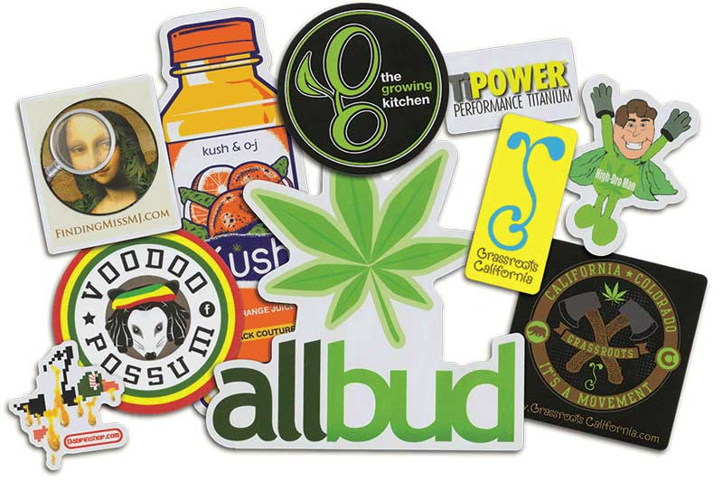 Cannabis and Marijuana Stickers | StickerGiant