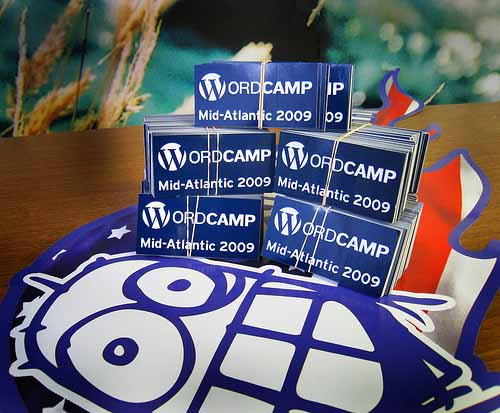 Stickers sponsored for WordCamp Mid-Atlantic in 2009 from StickerGiant
