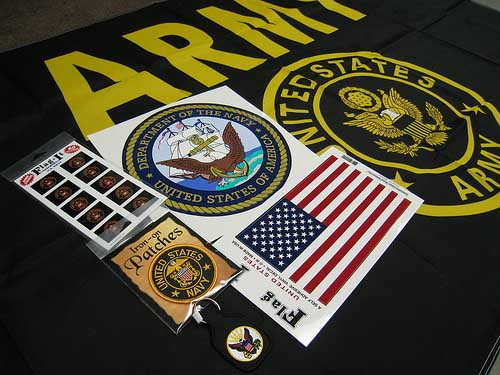 Custom Stickers Showing Military Pride printed by StickerGiant