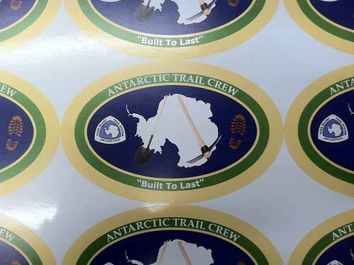 Oval Bumper Stickers for Antarctic Trail Crew printed by StickerGiant