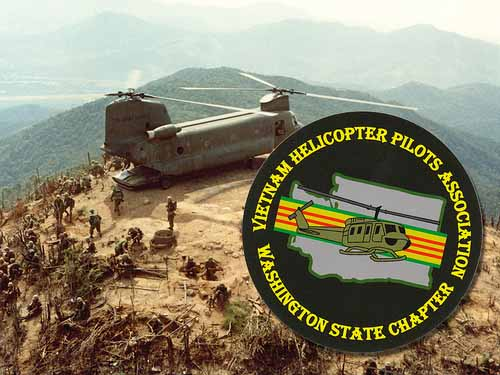 Round Stickers for Vietnam Helicopter Pilots Association the Washington State Chapter printed by StickerGiant